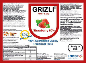 GRIZLI FRUIT&jelly 60% Strawberry Плод в желе Ягода