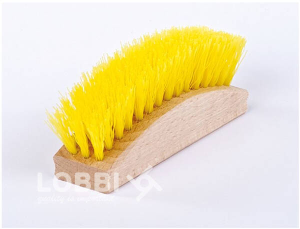 Brush for cleaning wooden rattan molds for rising / fermenting