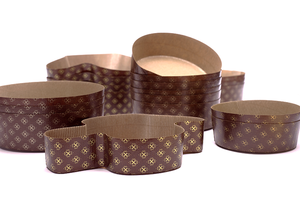 Panettone Basso paper round form for panetone / cake