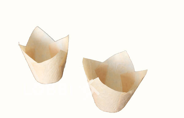 Paper cups for baking muffins Tulip - gold