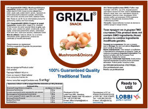 GRIZLI Snack Champions with onions