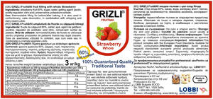 GRIZLI FRUIT&fill 60% Whole Strawberry fruit filling with whole fruits